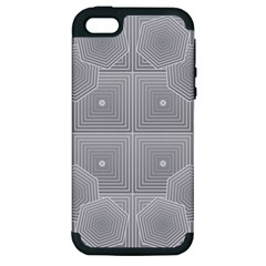 Grid Squares And Rectangles Mirror Images Colors Apple iPhone 5 Hardshell Case (PC+Silicone)