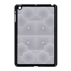 Grid Squares And Rectangles Mirror Images Colors Apple iPad Mini Case (Black)
