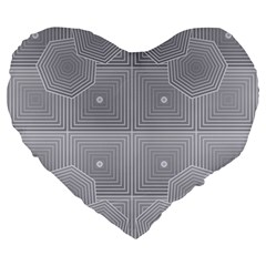 Grid Squares And Rectangles Mirror Images Colors Large 19  Premium Heart Shape Cushions