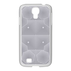 Grid Squares And Rectangles Mirror Images Colors Samsung GALAXY S4 I9500/ I9505 Case (White)