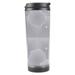 Grid Squares And Rectangles Mirror Images Colors Travel Tumbler