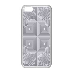 Grid Squares And Rectangles Mirror Images Colors Apple iPhone 5C Seamless Case (White)