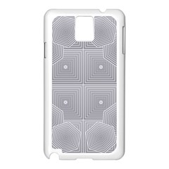 Grid Squares And Rectangles Mirror Images Colors Samsung Galaxy Note 3 N9005 Case (White)