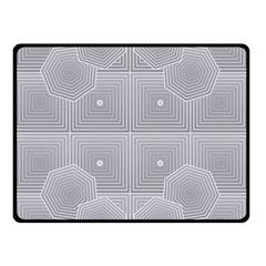 Grid Squares And Rectangles Mirror Images Colors Double Sided Fleece Blanket (small)