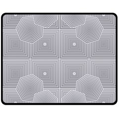 Grid Squares And Rectangles Mirror Images Colors Double Sided Fleece Blanket (Medium)