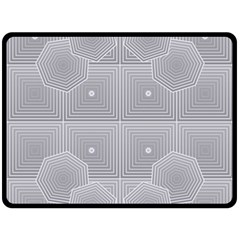 Grid Squares And Rectangles Mirror Images Colors Double Sided Fleece Blanket (Large)