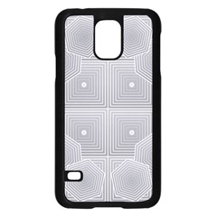 Grid Squares And Rectangles Mirror Images Colors Samsung Galaxy S5 Case (black)