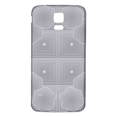 Grid Squares And Rectangles Mirror Images Colors Samsung Galaxy S5 Back Case (White)