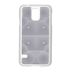 Grid Squares And Rectangles Mirror Images Colors Samsung Galaxy S5 Case (white)