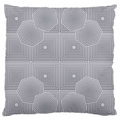 Grid Squares And Rectangles Mirror Images Colors Large Flano Cushion Case (Two Sides)