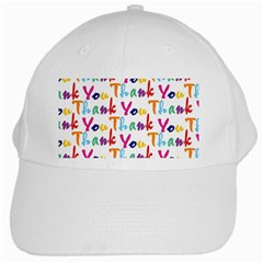 Wallpaper With The Words Thank You In Colorful Letters White Cap