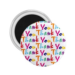 Wallpaper With The Words Thank You In Colorful Letters 2.25  Magnets