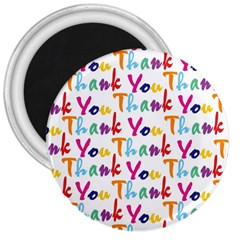 Wallpaper With The Words Thank You In Colorful Letters 3  Magnets
