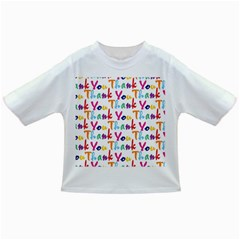 Wallpaper With The Words Thank You In Colorful Letters Infant/toddler T Shirts
