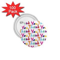 Wallpaper With The Words Thank You In Colorful Letters 1 75  Buttons (100 Pack)