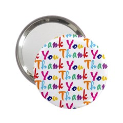 Wallpaper With The Words Thank You In Colorful Letters 2 25  Handbag Mirrors