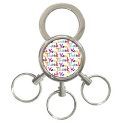 Wallpaper With The Words Thank You In Colorful Letters 3-Ring Key Chains