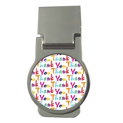 Wallpaper With The Words Thank You In Colorful Letters Money Clips (round)