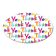 Wallpaper With The Words Thank You In Colorful Letters Oval Magnet
