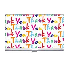 Wallpaper With The Words Thank You In Colorful Letters Business Card Holders