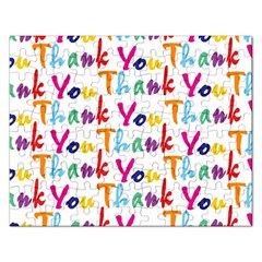Wallpaper With The Words Thank You In Colorful Letters Rectangular Jigsaw Puzzl