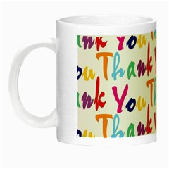 Wallpaper With The Words Thank You In Colorful Letters Night Luminous Mugs