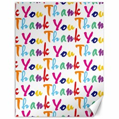 Wallpaper With The Words Thank You In Colorful Letters Canvas 12  x 16