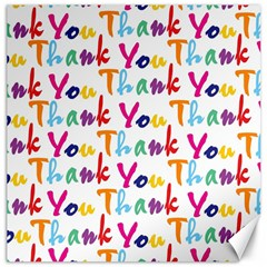Wallpaper With The Words Thank You In Colorful Letters Canvas 16  X 16