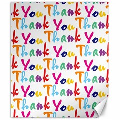 Wallpaper With The Words Thank You In Colorful Letters Canvas 20  X 24