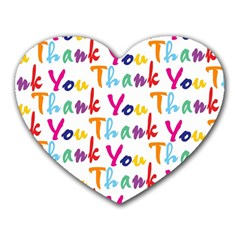 Wallpaper With The Words Thank You In Colorful Letters Heart Mousepads