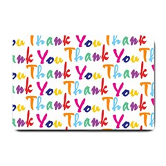 Wallpaper With The Words Thank You In Colorful Letters Small Doormat