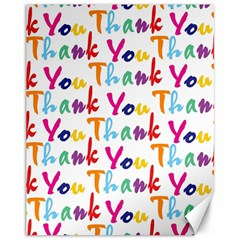 Wallpaper With The Words Thank You In Colorful Letters Canvas 11  X 14