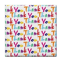 Wallpaper With The Words Thank You In Colorful Letters Face Towel