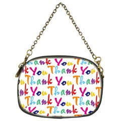 Wallpaper With The Words Thank You In Colorful Letters Chain Purses (one Side)
