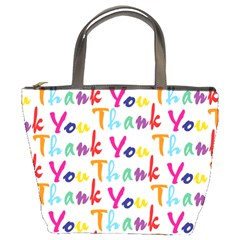 Wallpaper With The Words Thank You In Colorful Letters Bucket Bags