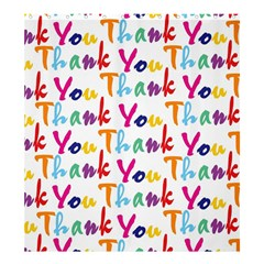 Wallpaper With The Words Thank You In Colorful Letters Shower Curtain 66  X 72  (large)