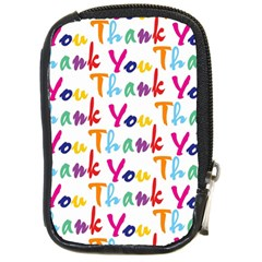Wallpaper With The Words Thank You In Colorful Letters Compact Camera Cases