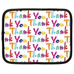 Wallpaper With The Words Thank You In Colorful Letters Netbook Case (xl)