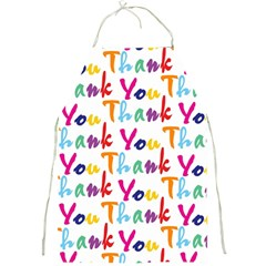 Wallpaper With The Words Thank You In Colorful Letters Full Print Aprons