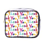 Wallpaper With The Words Thank You In Colorful Letters Mini Toiletries Bags Front