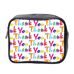 Wallpaper With The Words Thank You In Colorful Letters Mini Toiletries Bag 2 Side