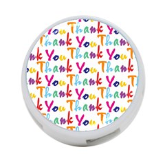 Wallpaper With The Words Thank You In Colorful Letters 4 Port Usb Hub (one Side)