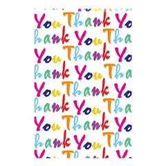 Wallpaper With The Words Thank You In Colorful Letters Shower Curtain 48  X 72  (small)