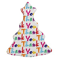 Wallpaper With The Words Thank You In Colorful Letters Christmas Tree Ornament (two Sides)