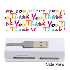 Wallpaper With The Words Thank You In Colorful Letters Memory Card Reader (Stick)