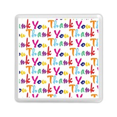 Wallpaper With The Words Thank You In Colorful Letters Memory Card Reader (square)