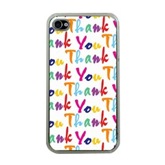 Wallpaper With The Words Thank You In Colorful Letters Apple iPhone 4 Case (Clear)