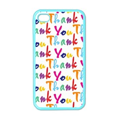 Wallpaper With The Words Thank You In Colorful Letters Apple Iphone 4 Case (color)