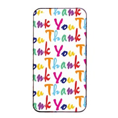 Wallpaper With The Words Thank You In Colorful Letters Apple iPhone 4/4s Seamless Case (Black)