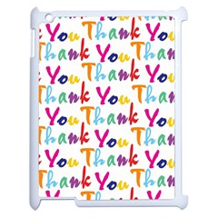 Wallpaper With The Words Thank You In Colorful Letters Apple Ipad 2 Case (white)